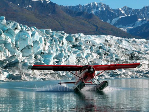 Alaska,aerial,photography,Knik Glacier,rainbow,Chugach State Park,Stadsklev
